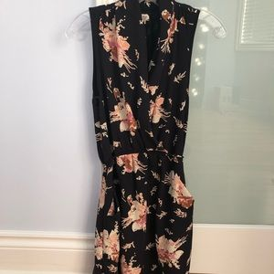 Wilfred black floral Sabine dress Xs
